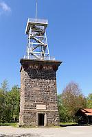 Aussichtsturm Kongeminde (1865) auf dem Rytterkn&aelig;gten auf der Insel Bornholm, D&auml;nemark, Europa<br /> watchtower in Kongeminde (1865) on Rytterknaegten hill, Isle of Bornholm Denmark