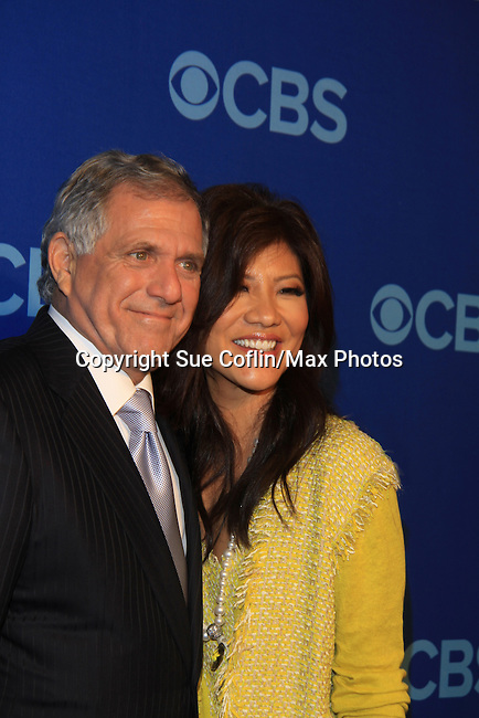 Les Moonves and Julie Chen at the CBS Upfront on May 15, 2013 at Lincoln Center, New York City, New York. (Photo by Sue Coflin/Max Photos)