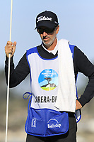 Rafa Cabrera-Bello (ESP) caddy Colin Byrne on the 7th green during Sunday's Final Round of the 2018 AT&amp;T Pebble Beach Pro-Am, held on Pebble Beach Golf Course, Monterey,  California, USA. 11th February 2018.<br /> Picture: Eoin Clarke | Golffile<br /> <br /> <br /> All photos usage must carry mandatory copyright credit (&copy; Golffile | Eoin Clarke)