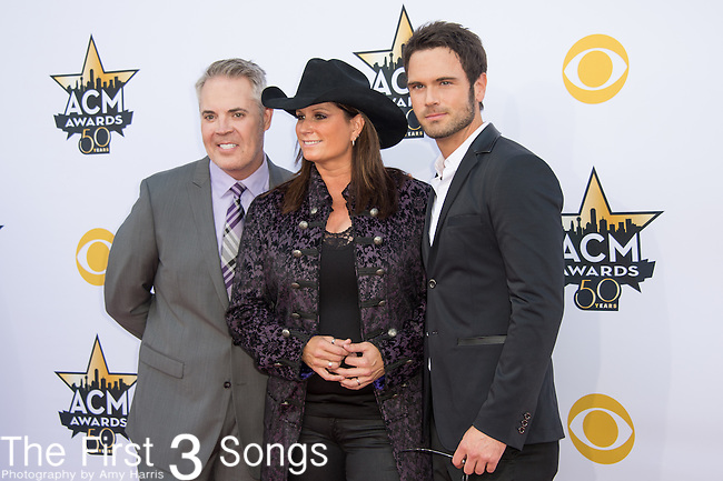 Terri Clark and Chuck Wicks attend the 50th Academy Of Country Music Awards at AT&T Stadium on April 19, 2015 in Arlington, Texas.