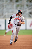 Richmond Flying Squirrels third baseman Dillon Dobson (28) runs the bases during a game against the Altoona Curve on May 15, 2018 at Peoples Natural Gas Field in Altoona, Pennsylvania.  Altoona defeated Richmond 5-1.  (Mike Janes/Four Seam Images)