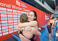 Picture by Allan McKenzie/SWpix.com - 17/12/2017 - Swimming - Swim England Nationals - Swim England National Championships - Ponds Forge International Sports Centre, Sheffield, England - Mount Kelly celebrate their victory in the womens 400m medley team.