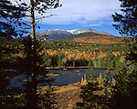 Mt Katahdin, Maine's highest mountain, in Baxter State Park in the Fall, Maine, USA