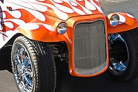 Golf Cart Custom Orange White Flame Decal, Classic, Unique,