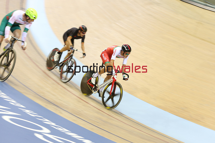 Glasgow 2014 Commonwealth Games<br /> Jon Mould competing in the men's 40km points race final.<br /> Sir Chris Hoy Velodrome<br /> Sir Chris Hoy Velodrome<br /> 26.07.14<br /> ©Steve Pope-SPORTINGWALES