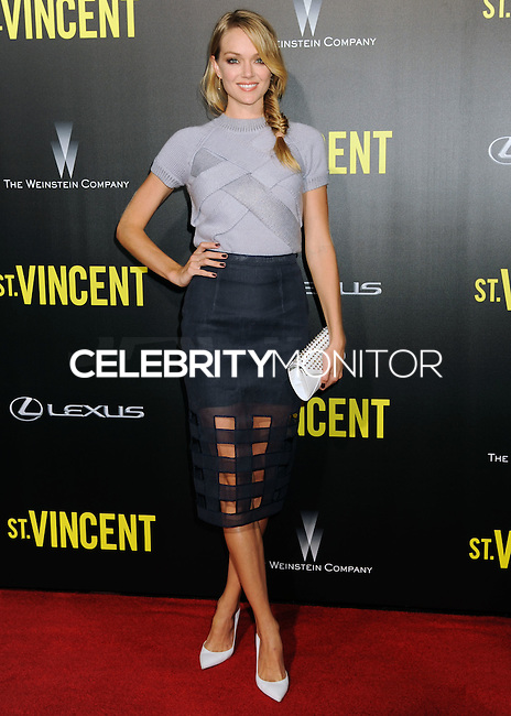 NEW YORK CITY, NY, USA - OCTOBER 06: Lindsay Ellingson arrives at the New York Premiere Of The Weinstein Company's 'St. Vincent' held at the Ziegfeld Theatre on October 6, 2014 in New York City, New York, United States. (Photo by Celebrity Monitor)