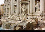 Trevi Fountain detail late afternoon light Nicola Salvi Rome