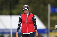 Ally McDonald of Team USA on the 7th green during Day 2 Foursomes at the Solheim Cup 2019, Gleneagles Golf CLub, Auchterarder, Perthshire, Scotland. 14/09/2019.<br /> Picture Thos Caffrey / Golffile.ie<br /> <br /> All photo usage must carry mandatory copyright credit (© Golffile | Thos Caffrey)