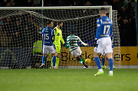 29th January 2020; McDairmid Park, Perth, Perth and Kinross, Scotland; Scottish Premiership Football, St Johnstone versus Celtic; Olivier Ntcham of Celtic scores the opening goal to put his side 1-0 ahead