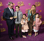 Matthew Broderick, James Wilkie Broderick, Sarah Jessica Parker, Marion Loretta Broderick, Tabitha Broderick attend the Broadway Opening Performance of 'Charlie and the Chocolate Factory' at the Lunt-Fontanne Theatre on April 23, 2017 in New York City.