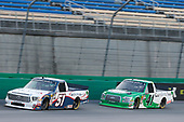 #51: Brandon Jones, Kyle Busch Motorsports, Toyota Tundra SoleusAir/Menards #41: Ben Rhodes, ThorSport Racing, Ford F-150 Alpha Energy Solutions