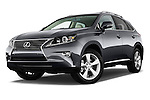 Stock pictures of low aggressive front three quarter view of a 2015 Lexus RX 350 5 Door Suv 2WD Low Aggressive