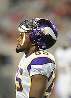 Dec 6, 2009; Glendale, AZ, USA; Minnesota Vikings linebacker Kenny Onatolu against the Arizona Cardinals at University of Phoenix Stadium. The Cardinals defeated the Vikings 30-17. Mandatory Credit: Mark J. Rebilas-