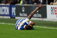 Nahki Wells of Queens Park Rangers  goes down after a tackle during Queens Park Rangers vs Blackburn Rovers, Sky Bet EFL Championship Football at Loftus Road Stadium on 5th October 2019