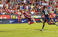 Frisco, TX. - September 13, 2016: FC Dallas takes a 2-1 lead over the New England Revolution with Matt Hedges adding a goal during first half play in the 2016 U.S. Open Cup Final at Toyota Stadium.