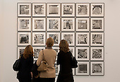London, England. 15 October 2014. Photographs of Parking Lots by Ed Ruscha, Bruce Silverstein Gallery. Fine art fair Frieze Masters 2014 in Regent's Park, London. Photo: Bettina Strenske