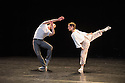 "London, UK. 15.04.2014. HeadSpaceDance present IF PLAY IS PLAY..., a triple bill of new work, in the Linbury Studio, Royal Opera House, London. Picture shows: Clemmie Sveaas and Jonathan Goddard, in ""Before the Interval"".  Photograph © Jane Hobson."