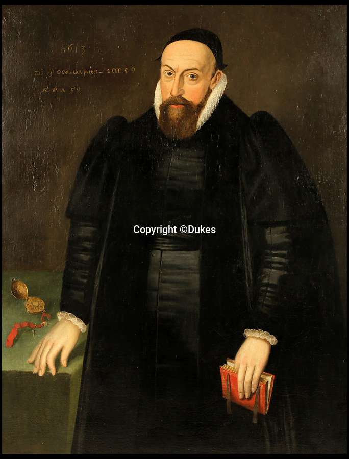 BNPS.co.uk (01202)558833<br /> Pic:   Dukes/BNPS<br /> <br /> A lost portrait which is thought to be of Sir Walter Raleigh has emerged for sale at auction - after an eagle eyed collector spotted it on eBay.<br /> <br /> Raleigh, one of the most notable figures of the Elizabethan era, was locked up in the Tower of London after being implicated in a plot against her successor James I in 1603.<br /> <br /> The painting, which dates from 1613, was initially bought on eBay for a 'fraction of its true value' by an European art expert who sniffed a bargain five years ago.<br /> <br /> She has now consigned it for sale with auction house Duke's, of Dorchester, Dorset, who expect it to fetch £6,000.