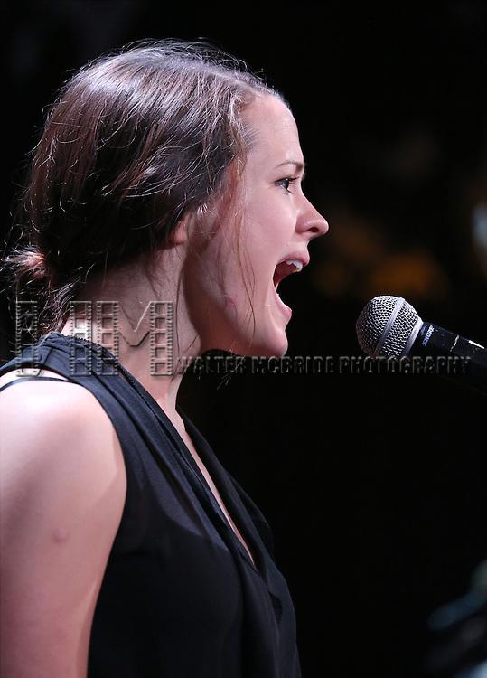 Rose Hemingway in rehearsal for 'The Lord & The Master - Broadwayworld.com sings Andrew Lloyd Webber & Stephen Sondheim'  at Joe's Pub on June 16, 2014 in New York City.