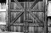 Gate at Fort Nisqually Living History Museum, Point Defiance Park, Tacoma, Washington, USA