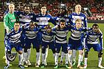 21 November 2010: FC Dallas starting eleven.  Front row (l to r): Daniel Hernandez, Jair Benitez (COL), Jackson Goncalves (BRA), David Ferreira (COL), Dax McCarty, Marvin Chavez (HON). Back row (l to r): Kevin Hartman, Atiba Harris (SKN), George John, Ugo Ihemelu, Brek Shea. FC Dallas played the Colorado Rapids at BMO Field in Toronto, Ontario, Canada in MLS Cup 2010, Major League Soccer's championship game.