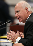 Nevada Museum and History Director Peter Barton testifies in a committee hearing at the Legislative Building in Carson City, Nev., on Wednesday, Feb. 11, 2015. <br /> Photo by Cathleen Allison
