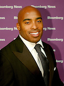 Washington, D.C. - April 29, 2006 -- Tiki Barber arrives at the Embassy of the Republic of Macedonia in Washington, D.C. for the Bloomberg News party following the annual White House Correspondents Association (WHCA) dinner..Credit: Ron Sachs / CNP
