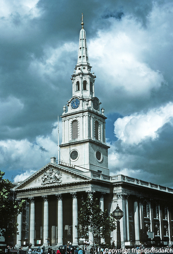 James Gibbs: St. Martin-in- the- Fields, London 1722-26. Photo '90.
