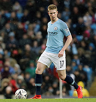 Manchester City's Kevin De Bruyne<br /> <br /> Photographer Rich Linley/CameraSport<br /> <br /> Emirates FA Cup Fourth Round - Manchester City v Burnley - Saturday 26th January 2019 - The Etihad - Manchester<br />  <br /> World Copyright © 2019 CameraSport. All rights reserved. 43 Linden Ave. Countesthorpe. Leicester. England. LE8 5PG - Tel: +44 (0) 116 277 4147 - admin@camerasport.com - www.camerasport.com