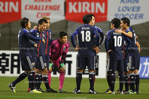 Japan team group (JPN), .FEBRUARY 6, 2013 - Football / Soccer : .KIRIN Challenge Cup 2013 Match between Japan 3-0 Latvia .at Home's Stadium Kobe in Hyogo, Japan. .(Photo by Akihiro Sugimoto/AFLO SPORT)