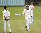 West of Scotland CC V Uddingston CC, Scottish National Cricket League, Premier Div, at Hamilton Cres, Glasgow - West Pro Andrew Ellis remonstrates with Uddingston players after the controversial stumping of West capt Ian Young - Picture by Donald MacLeod 20 June 09