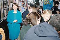 Democratic presidential candidate and Minnesota senator Amy Klobuchar speaks to patrons at the Red Arrow Diner during a campaign stop in Manchester, New Hampshire, on Wed., October 16, 2019. The event was part of a 10-county tour of New Hampshire and started the day after the 4th Democratic debate, in which analysts said Klobuchar performed well. <br />  The Red Arrow Diner has been a frequent stop for presidential candidates in New Hampshire for decades.