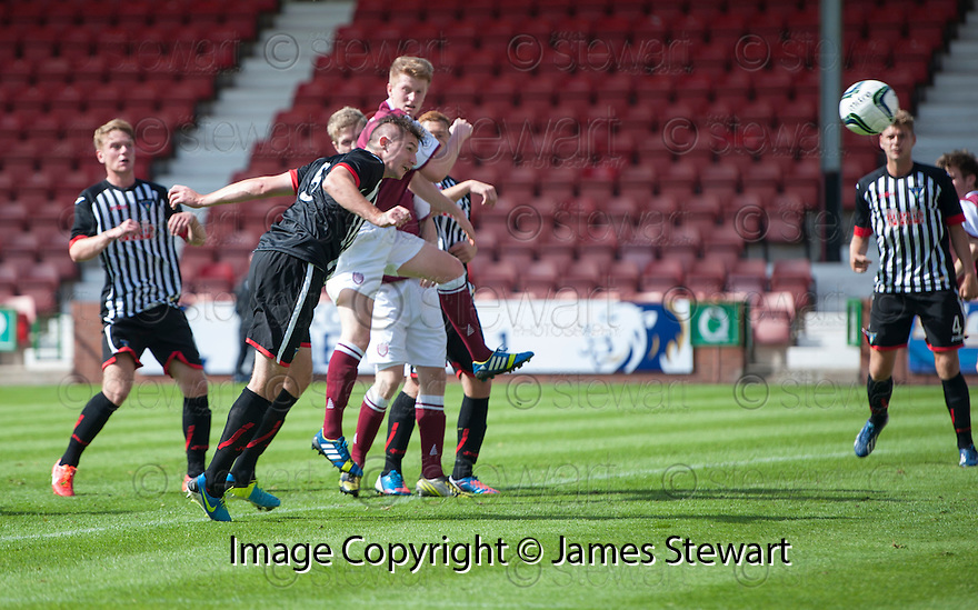 Pars' Callum Morris scores their first goal.