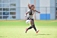Houston, TX - Friday Oct. 07, 2016: Francisca Ordega during training prior to the National Women's Soccer League (NWSL) Championship match between the Washington Spirit and the Western New York Flash at Houston Sports Park.
