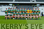 Kerry players before the Munster Minor Football Final between Kerry and Cork at Pairc Ui Chaoimh, Cork on Saturday night.