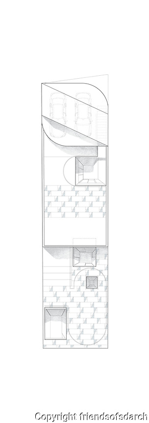Private house for De Leon, Roof Plan. Tijuana, B.C. Mexico. Date of work: 2014.