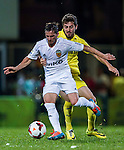 (R) Pablo Piatti of Valencia CF followed by (L) Moi Gomez of Villarreal CF during LFP World Challenge 2014 between Valencia CF vs Villarreal CF on May 28, 2014 at the Mongkok Stadium in Hong Kong, China. Photo by Victor Fraile / Power Sport Images