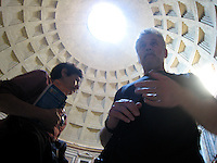 Pantheon dome with David & Rhoda, Rome.