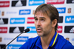 Coach Julen Lopetegui during press conference in the city of football of Las Rozas in Madrid, Spain September 01, 2017. (ALTERPHOTOS/Borja B.Hojas)