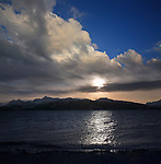 An Alaskan Sunset Taken From The End Of The Spit At Homer Alaska, Kenai Peninsula