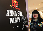"""May 4, 2016, Tokyo, Japan - American fashion designer Anna Sui puts her autograph on the board as she attends the opening ceremony of her brand's special event """"Anna Sui Party"""" at the Isetan department store in Tokyo on Wednesday, May 4, 2016. Isetan celebrated the 20th anniversary of Anna Sui brand's launching in Japan.  (Photo by Yoshio Tsunoda/AFLO) LWX -ytd-"""