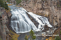 67545-09708 Gibbon Falls at Yellowstone National Park, WY