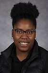 Chastity  Stokes, Graduate Assistant, Residential Education , DePaul University, is pictured in a studio portrait Wednesday, March 01, 2017. (DePaul University/Jeff Carrion)