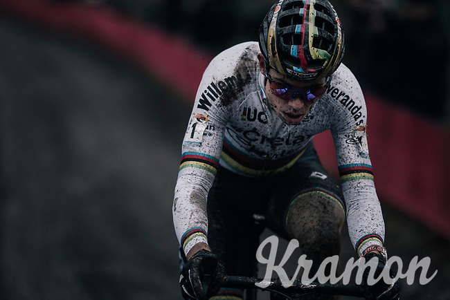 CX world champion Wout Van Aert (BEL/Crelan-Charles)<br /> <br /> Elite Men's race<br /> UCI CX World Cup Namur / Belgium 2017
