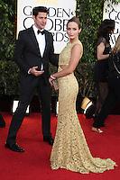 BEVERLY HILLS, CA - JANUARY 13: Emily Blunt and John Krasinski at the 70th Annual Golden Globe Awards at the Beverly Hills Hilton Hotel in Beverly Hills, California. January 13, 2013. Credit: mpi29/MediaPunch Inc. /NortePhoto