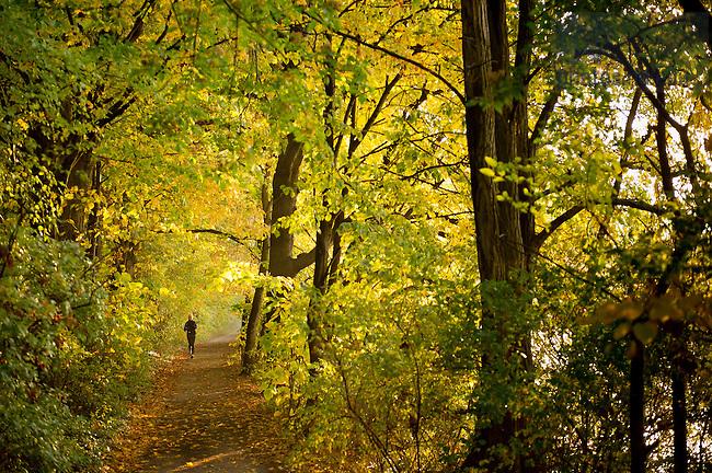 Oct. 11, 2012; Jogging path around St. Joseph's Lake..Photo by Matt Cashore/University of Notre Dame