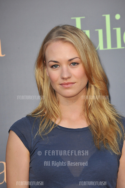 "Yvonne Strahovski at the Los Angeles premiere of ""Julie & Julia"" at Mann Village Theatre, Westwood..July 27, 2009  Los Angeles, CA.Picture: Paul Smith / Featureflash"