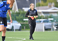 Brugge's assistant coach Valerie Van Slycke pictured during a female soccer game between Club Brugge Dames YLA and Racing Genk Ladies on the second matchday of the 2020 - 2021 season of Belgian Scooore Women s SuperLeague , saturday 5 th of September 2020  in Brugge , Belgium . PHOTO SPORTPIX.BE   SPP   DAVID CATRY