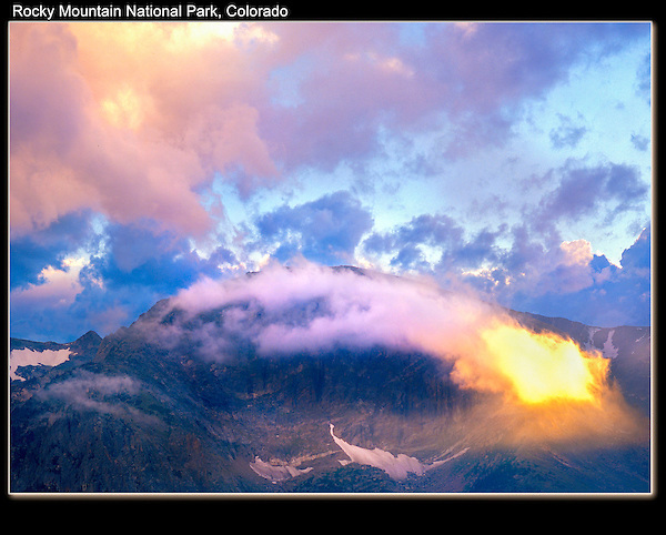 Sunset from Forest Canyon Overlook along Trail Ridge Road. <br /> John offers private, photo tours of Rocky Mountain National Park.  Click the  CONTACT  button above for inquiries.