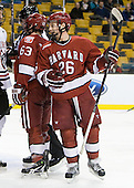 Luke Greiner (Harvard - 26) - The Harvard University Crimson defeated the Northeastern University Huskies 3-2 in the 2012 Beanpot consolation game on Monday, February 13, 2012, at TD Garden in Boston, Massachusetts.